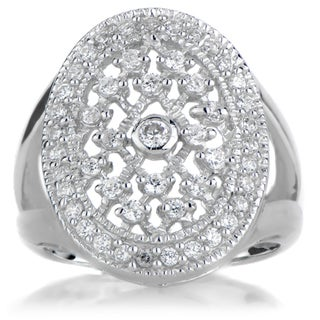 Sterling Silver Cubic Zirconia Vampire Wedding Ring