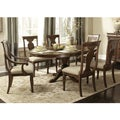 Rustic Tradition Cherry 7-Piece Oval Dinette Set