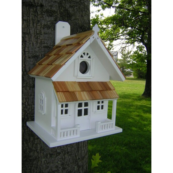 Victorian Cottage White Bird House