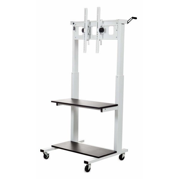 Luxor Crank Adjustable Flat Panel TV Cart