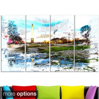 Design Art 'Abstract Washington Monument' Large Americana Canvas Art Print