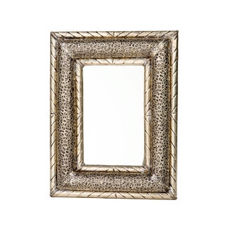 13-inch Dimensional Handcrafted Moroccan Metalwork Mirror