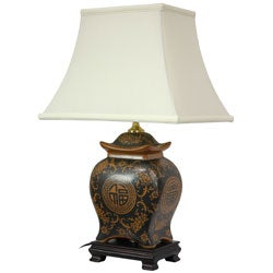 Pagoda Jar Oriental Lamp (China)