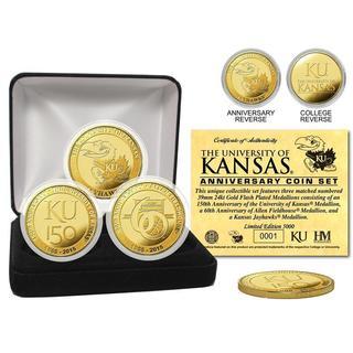 University of Kansas Anniversary Gold Coin Set