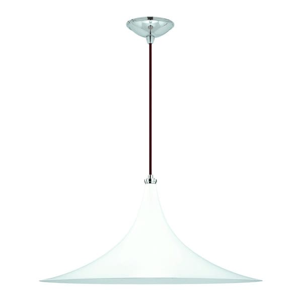 Wing 1-light Gloss White Pendant