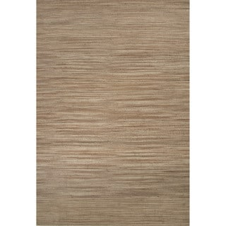 Naturals Solid Pattern Brown/ Tan Area Rug (2' x 3')