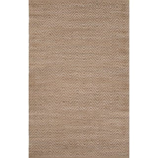 Naturals Solid Pattern Brown/ Brown Area Rug (8' x 10')