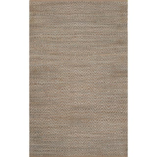 Naturals Solid Pattern Blue/ Blue Area Rug (8' x 10')
