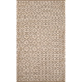 Naturals Solid Pattern Ivory/ Ivory Area Rug (8' x 10')