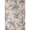 Hand-tufted Floral Pattern Ivory/ Blue Area Rug (2' x 3')