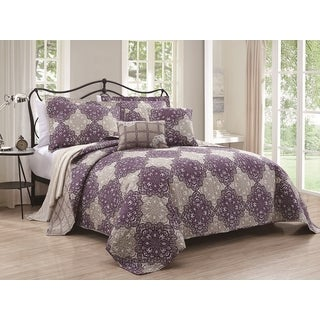 Persia 5-piece Reversible Quilt Set