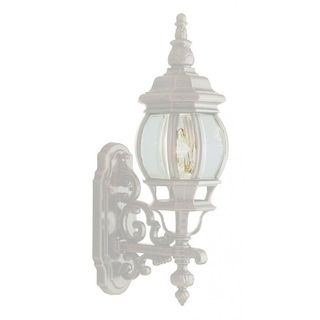 Cambridge White Finish Outdoor Wall Lantern With a Beveled Shade