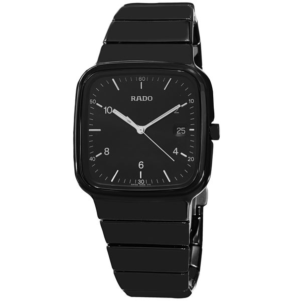 Rado Men's R28887162 'R5.5' Black Dial Black Ceramic Bracelet Quartz Watch