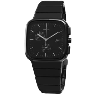 Rado Men's R28885152 'R5.5' Black Dial Black Ceramic Bracelet Chronograph Swiss Quartz Watch