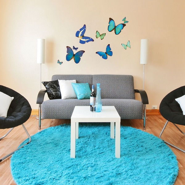 Natural Butterfly Set Vinyl Wall Decals