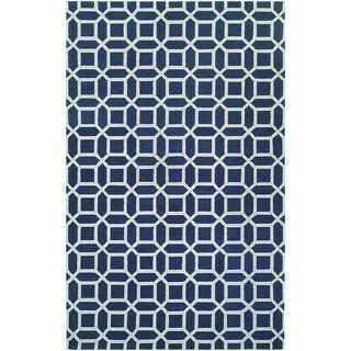 Bowery Havemeyer Sapphire/ Sky Blue Rug (7'9 x 10'7)