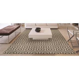 Bowery Ainslie Ivory/ Grey Rug (7'9 x 10'7)