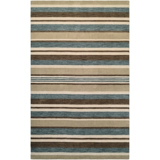 Mystique Bliss Ivory/ Teal/ Brown Rug (7'9 x 9'9)