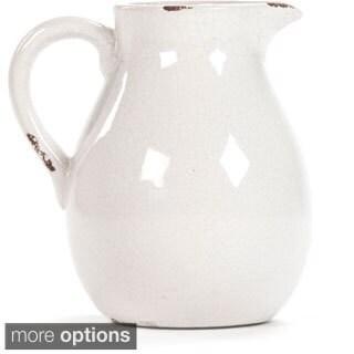 Victorian White Crackled Ceramic Pitcher