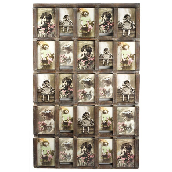 25 Slot Wooden Collage Photo Frame 17176205 Overstock