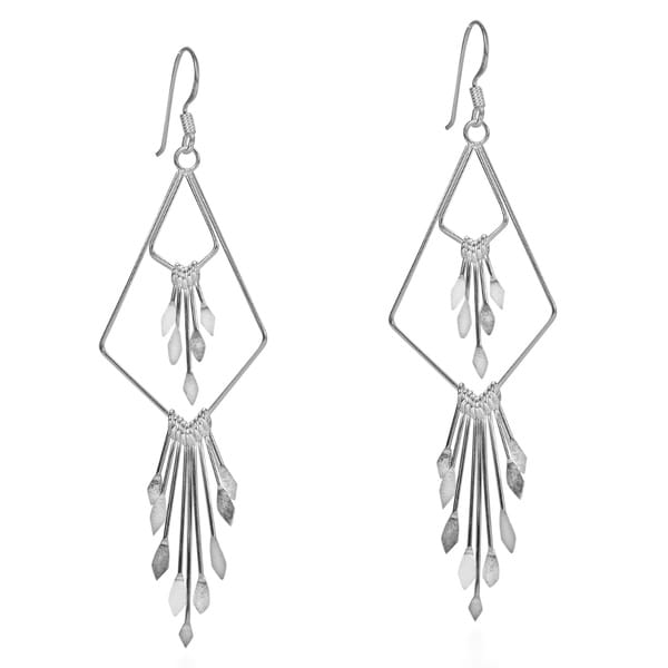 Alluring Tiered Chandelier Sterling Silver Earrings (Thailand)