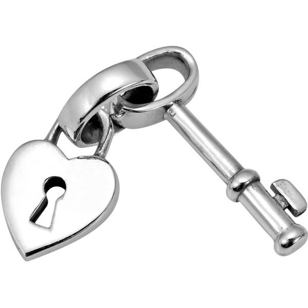 Unlock My Heart Key .925 Sterling Silver Pendant (Thailand)