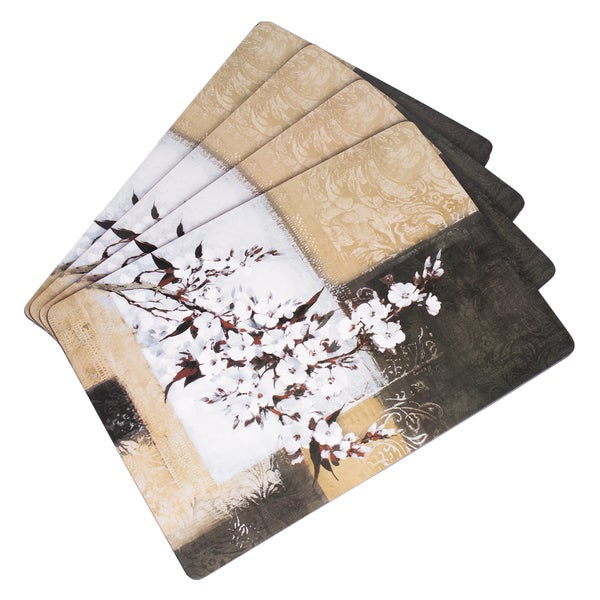 """4-Pack Placemat Set """"Cherry Blossom"""""""