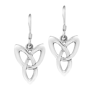 Celtic Triquetra .925 Sterling Silver Dangle Earrings (Thailand)