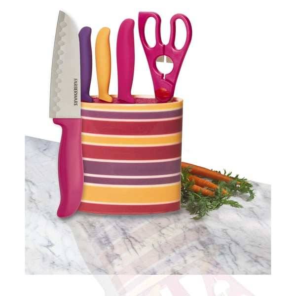 Farberware 5-piece Prep Set in Oval Stripe Block