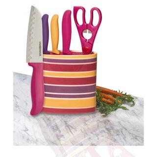 Farberware 5-piece Prep Set in Oval Stripe Block