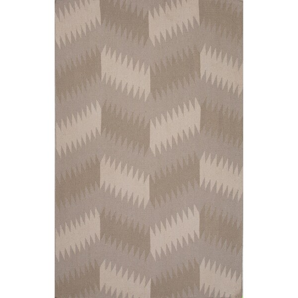Flatweave Tribal Pattern Grey/ Black Area Rug (8x11)