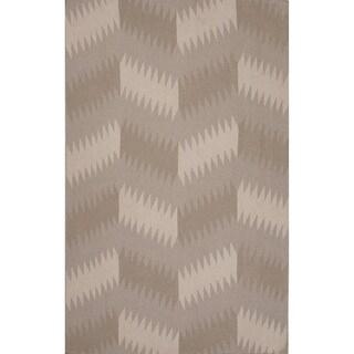 Flatweave Tribal Pattern Grey/ Black Area Rug (8x11)