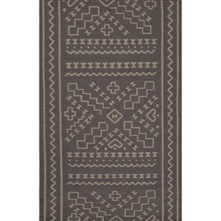 Flatweave Argyle Pattern Grey/ Grey Area Rug (5' x 8')