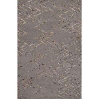 Hand-tufted Argyle Pattern Grey/ Grey Area Rug (5' x 8')