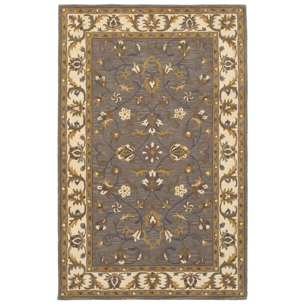 Allure Grey/ Ivory Area Rug (9' x 12')