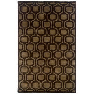 Majestic Charcoal Rectangle Area Rug (8' x 10')