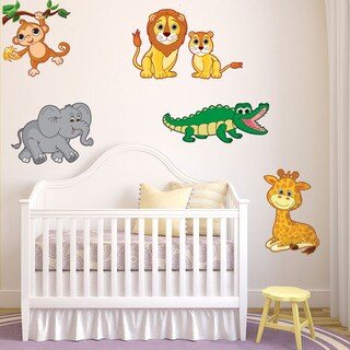 Colorful Safari Animals Vinyl Decal Set