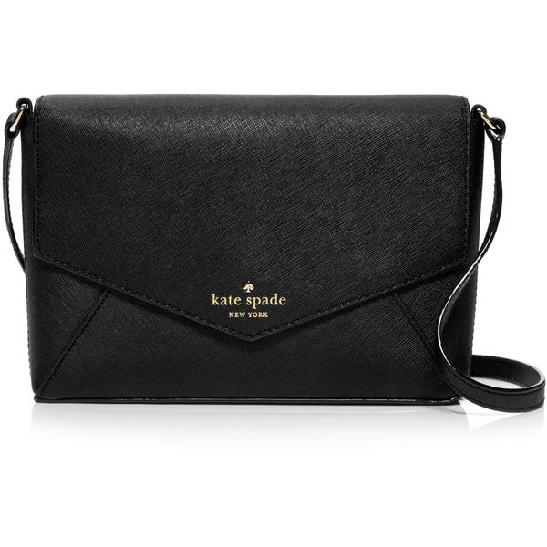 kate spade Black Cedar Street Monday Large Leather Crossbody