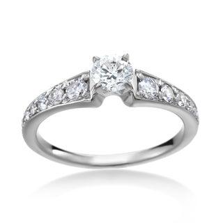 SummerRose 14k White Gold 4/5ct TDW Diamond Solitaire Engagement Ring (H-I, I1-I2)