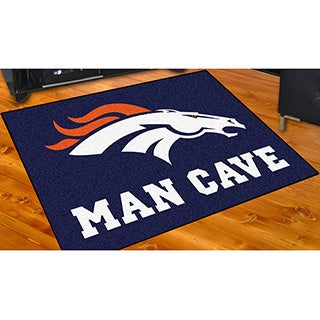 Fanmats Denver Broncos Blue Nylon Man Cave Allstar Rug (2'8 x 3'8)
