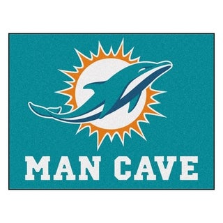 Fanmats Miami Dolphins Turquoise Nylon Man Cave Allstar Rug (2'8 x 3'8)