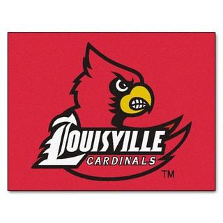 Fanmats University of Louisville Red Nylon Allstar Rug (2'8 x 3'8)