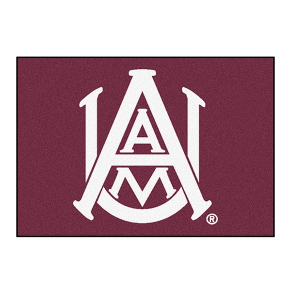Fanmats Alabama A&M University Burgundy Nylon Allstar Rug (2'8 x 3'8)