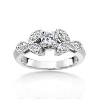 14k White Gold 4/5ct TDW Diamond Ring (H-I, I1-I2)