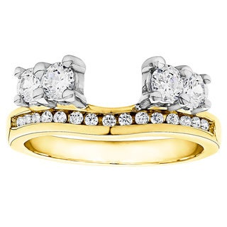 10k Gold 1/3ct TDW Diamond Solitaire Anniversary Ring Wrap Enhancer (G-H, I2-I3)