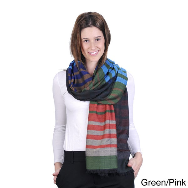 J. Furmani Striped Pashmina Scarf