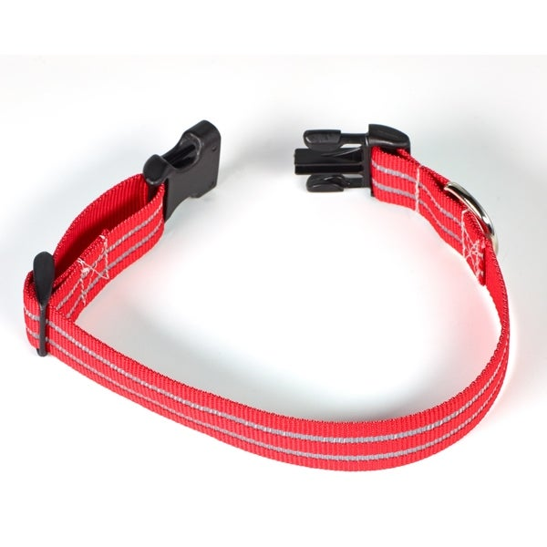 Petflect Red Poly Reflective Two-stripe Collar