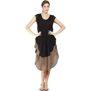 Women's Two tone Layered Boho Dress
