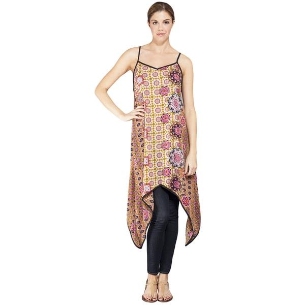 Women's Printed High Low Waterfall Summer Dress