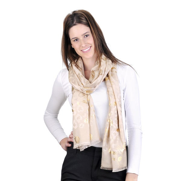J. Furmani Gold Flower Pashmina Scarf